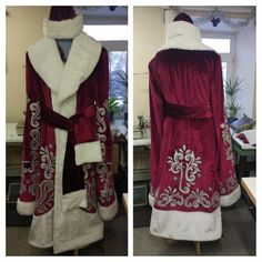 Sakura Cosplay, Game Costumes, Santa Costumes, Gold Pants, Christmas Costumes, Wool Suit, Father Christmas, Polyester Satin, Wool Fabric