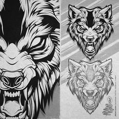 Vector Hollows #inks #digital #vector #illustration #wolf #beast #fangs #adobe #art #absorb81 #caliberblack
