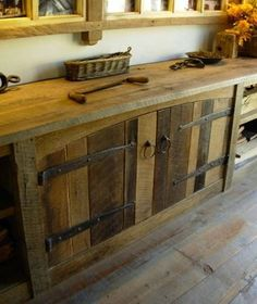 Bon These Cabinets Were Made When A Barn Was Disassembled. The Barn Siding Used  On The Cabinet Doors Has A Natural, Weathered Look That Canu0027t Be Replicated  With ...