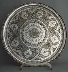 Isfahan Solid Silver Salver - 84