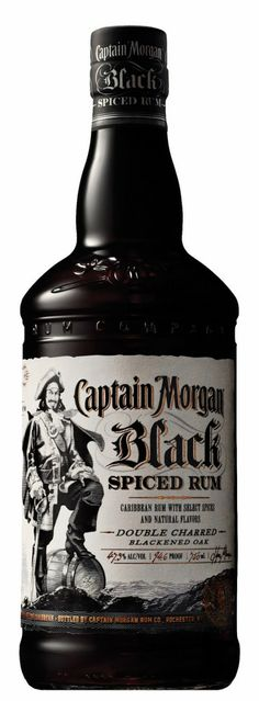 Captain Morgan Black Rum Bartender Drinks, Wine Cocktails, Cocktail Drinks, Fun Drinks, Alcoholic Drinks, Captain Morgan, Mezcal Tequila, Good Rum, Fine Wine And Spirits