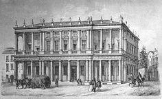 Palladio: Palazzo Chiericati, Vicenza, print from mid XIX c.