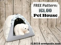 Casinha para gato - Sew Can Do: FREE Pattern Pet House Igloo + Polar Opposites Fabric Giveaway! Sewing Patterns Free, Free Sewing, Sewing Tutorials, Sewing Crafts, Free Pattern, Sewing Projects, Tutorial Sewing, Sewing Ideas, Fleece Projects