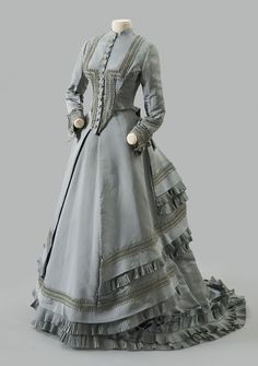 Worth visiting dress ca. 1873 From the Albany Museum of History & Art