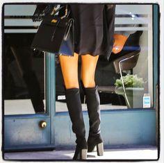 Stuart Weitzman Hijack Black Suede Boots: Gisele Bundchen, purchase at theCIRCEeffect.com!