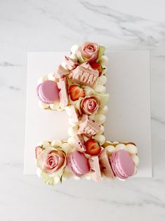 #cijfer #cake #numbercake #cakedesign #1