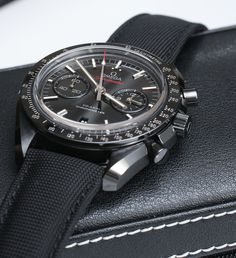 Omega Speedmaster Co-Axial Chronograph Dark Side Of The Moon Black Ceramic #watch #omega