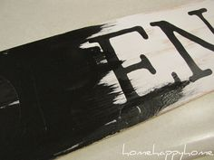 home happy home: Wood sign tutorial