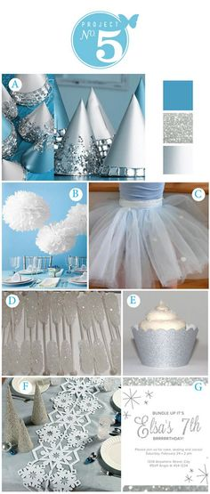 winter party so cute! Great theme for Christmas/ winter white! Love the snowflake table runner (fiesta party decorations disney frozen) Disney Frozen Party, Winter Birthday Parties, Frozen Birthday Party, Birthday Party Themes, Birthday Ideas, Cake Birthday, 5th Birthday, Olaf Party, Ice Skating Party