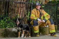 Firefighters Pose With Animals for Smoking Calendar