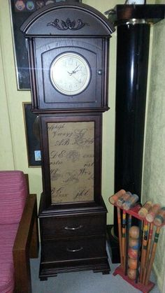 Grandfather clock curio cabinet finished SOLD!