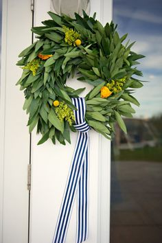 Perfect wreath for spring + summer