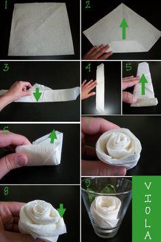 Papierservietten falten zu jedem Anlass - 27 Anleitungen
