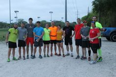 The first ever Trail Mix Social Run crew. So color before they hit Harry Moss Park on April 12, 2014.