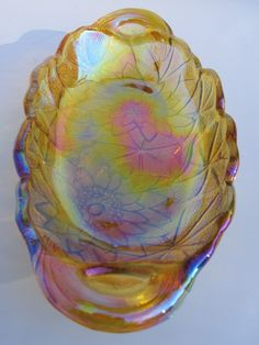 Vintage Carnival Glass Candy Dish. $14.00, via Etsy.