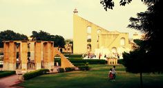 Jantar mantar was built in 1734 by king Sawai Jai Singh II located in jaipur rajasthan india. It have a largest sundial & part of a UNESCO world heritage site. Jantar Mantar, Virtual Travel, Rajasthan India, Sundial, Tourist Places, World Heritage Sites, Tourism, Places To Visit, City