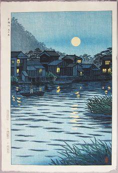 A Fine Japanese Woodblock Print by Shiro Kasamatsu (1898-1992): | eBay