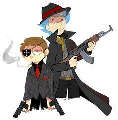 Mafia au by IceyRaichu on @DeviantArt