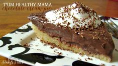 THM S ( could be deep S with no crust) This easy No Bake Chocolate Cream Pie is a treat for Trim Healthy Mama fans, low-carb and sugar free plans. It's an easy no bake recipe.