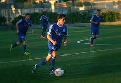 Brian Behrad pushing the ball into OC Blues territory as the Misioneros defeat the Blues 1-0 to clintch a playoff spot for the 2014 PDL Playoffs