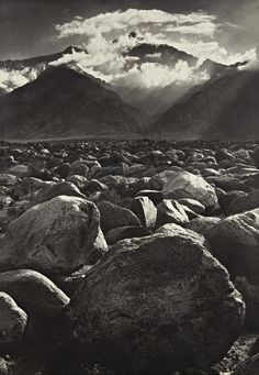 Classic grey scale Mt. Williamson, Sierra Nevada, from Manzanar  photo by Ansel Adams, California 1944