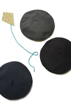 kid size berets in 3 shades