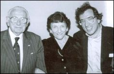 Sir Nicholas Winton, historian Elizabeth Maxwell and Slovak Film Director Matej Minache in 1999. The story would never have been known if it wasn't for the efforts of Winton's wife Greta and historian Elizabeth Maxwell.  Minac, completed two films about Sir Nicholas Winton. The first one was a drama called All My Loved ones (1999) and the second was a documentary named Nicholas Winton;The Power of Good, which won an Emmy Award.