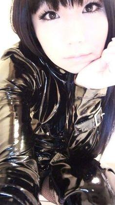 Asian Woman, Asian Girl, Vinyl Clothing, Plastic Raincoat, Latex Girls, Latex Fashion, Rain Wear, Catsuit, Japanese Girl