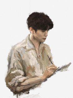 Kpop Drawings, Art Drawings, Jung Joon Ho, Yuta, Jung Jaehyun, Jaehyun Nct, Kpop Fanart, Taeyong, Chinese Art