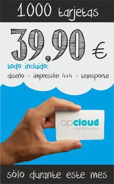Sólo durante el mes de Abril! http://www.apcloud.es/impresion.jsp