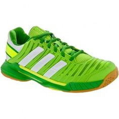 adidas adipower Stabil 10.1 Lady Ray Green/White/Real Green : Indoor, Squash, Racquetball - Women's Shoes: Holabird Sports
