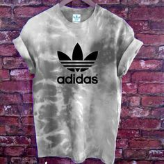 Authentic Unisex Adidas originals Trefoil tie dye Rain Cloud Tee available from stag &a Bone and etsy. Handmade