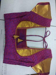 Bharathi k Jmd blouse neck designs for pattu type Blouse Neck Patterns, New Saree Blouse Designs, Patch Work Blouse Designs, Simple Blouse Designs, Stylish Blouse Design, Blouse Back Neck Designs, Designer Blouse Patterns, Sari Blouse, Pattern Blouses For Sarees