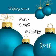 Merry X-Mas Blue - Zakelijke kerstkaarten - Kaartje2go - ontwerp OTTI