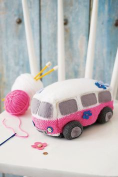 Surf Van Starter Knitting Kit by TheLittleKnitKitCo on Etsy, £16.50