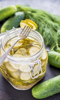 Maustekurkut | Maku A Food, Food And Drink, Recipes From Heaven, Dessert Recipes, Desserts, Preserves, Pickles, Cucumber, Peanut Butter
