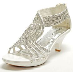 Low heeled wedding shoes