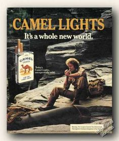 Camel Lights Whole New World Rocks (1984) #vintage #cigarette #advertisement