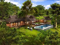I was searching online for balinese style and tropical style house plans today. When I think of tropical houses, I envision grass thatched r...