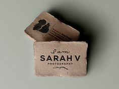 I love the fun #paper and texture of this business card. Business card design ideas.