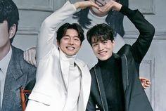 Gong Yoo y Lee Dong Wook en la conferencia de prensa de Goblin.
