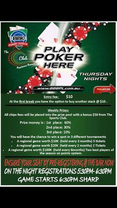 cool Thursday Ribfest & 888 Poker  Lunch 11:30am - 2pm Dinner from 5:30pm   **Courtes...