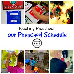 Preschool Morning Schedule from Teaching 2 & 3 Year Olds