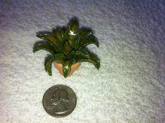 Small clay fern