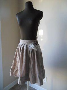 Wispy Mocha Skirt Boho Pleated Taupe Gauze Tulle by colorada, $52.00