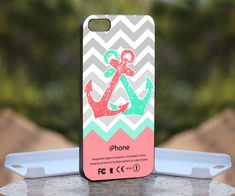 Chevron Anchor Pink Mint for iPhone 4 case,