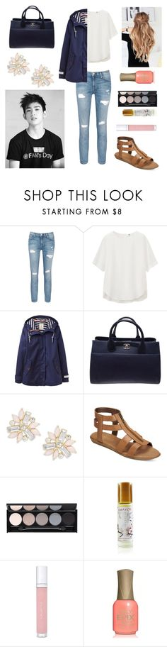 """""""Date with Jr."""" by bts-outfit-imagines ❤ liked on Polyvore featuring Current/Elliott, Uniqlo, Joules, Chanel, Cara, Aerosoles, Witchery, Amayori and shu uemura"""