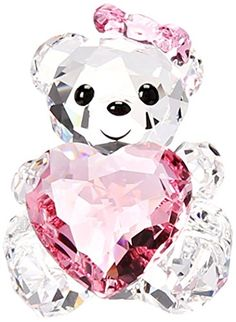 Swarovski Only For You Kris Bear Collectible Doll -- Check out the image by visiting the link. Glass Figurines, Collectible Figurines, Swarovski Crystal Figurines, Swarovski Crystals, Cristal Art, Magical Jewelry, Cute Room Decor, Fantasy Jewelry, Cute Disney