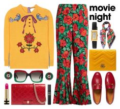 """""""Movie Night"""" by shoaleh-nia ❤ liked on Polyvore featuring Gucci"""