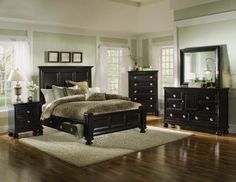 Portsmouth 5-PC King Panel Bedroom Package-  American Signature Furniture